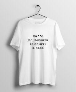 SCRIVILO SU T-SHIRT bellavita style Chiavi di casa